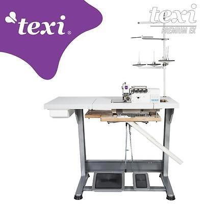 TEXI Overlock 2 Nadeln / 4 Faden Industrie Nähmaschine - NEU!