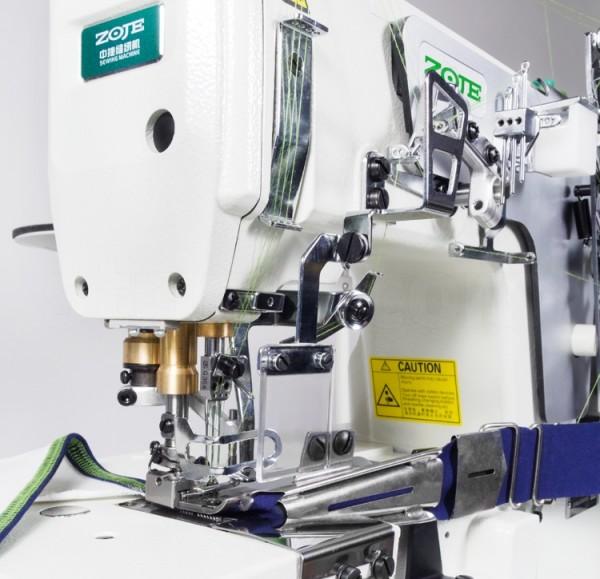 ZOJE COVERlock mit Bandeinfasser - Industrie Nähmaschine - Interlock