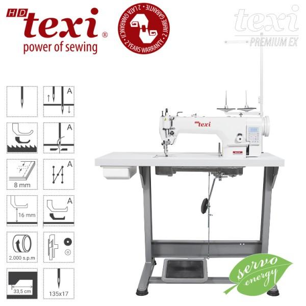 TEXI Industrie Nähmaschine Leder - mit Fadenabschneider - NEU!